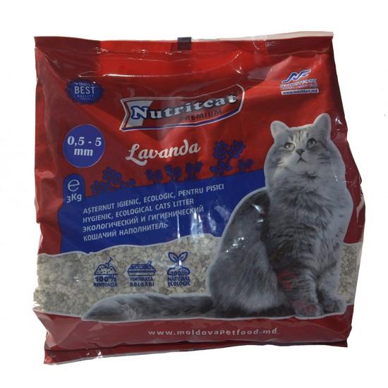 Nutritcat Premium Asternut pentru pisici (granule medii) 3 kg