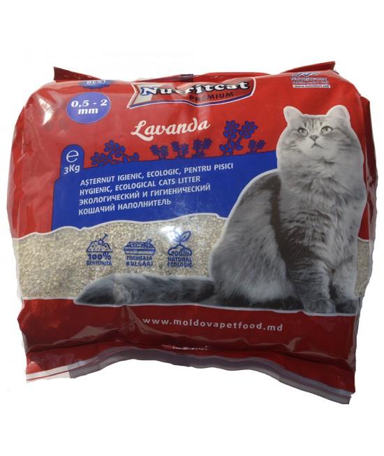 Nutritcat Premium Asternut pentru pisici (granule mici) 3 kg