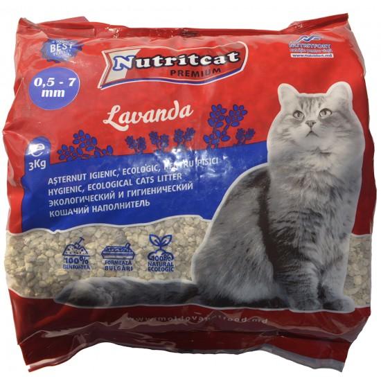 Nutritcat Premiun Asternut pentru pisici (granule mari) 3 kg