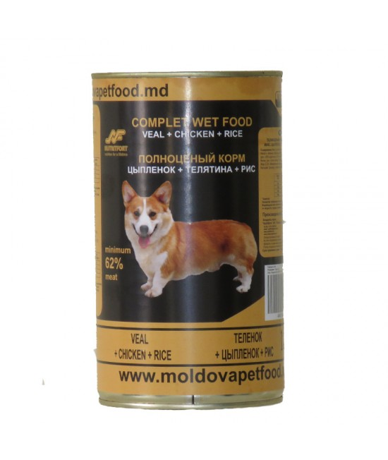 Nutritdog Premium Hrana completa Mix de Vitel+Pui+Orez 1,250 kg