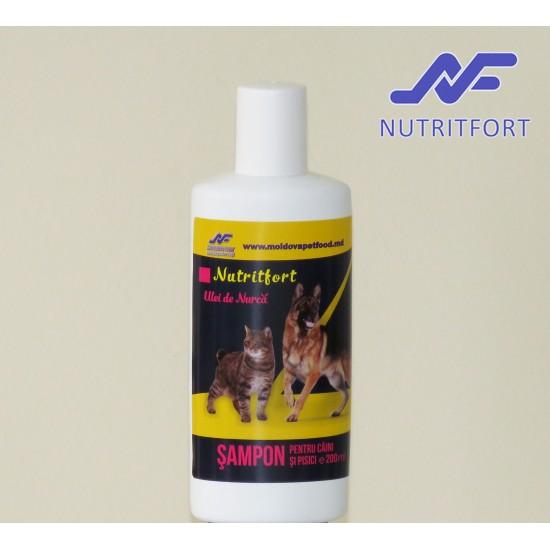 Nutritfort Ulei de Nurca Sampon pentru caini si pisici 200 ml